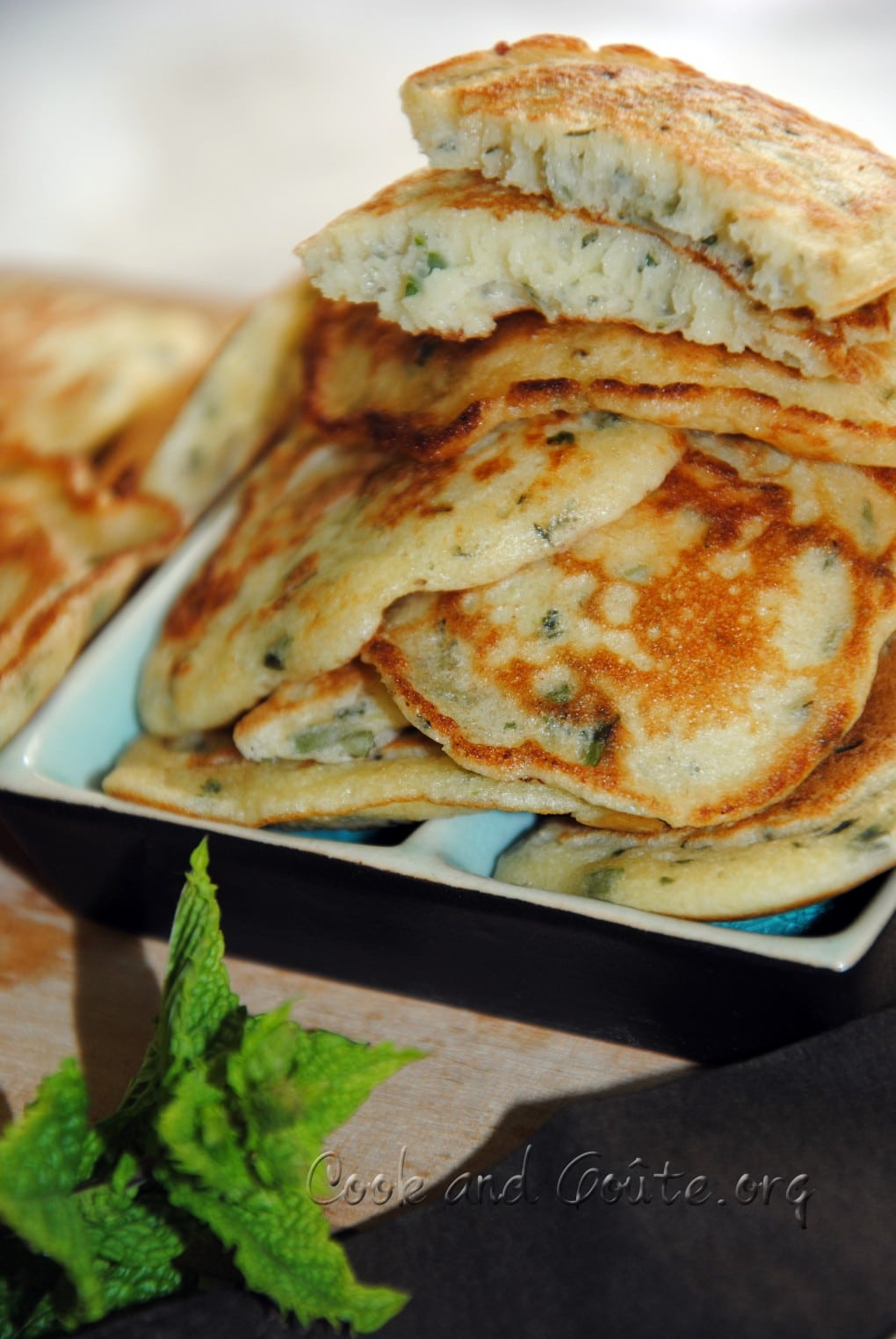 blinis aux herbes
